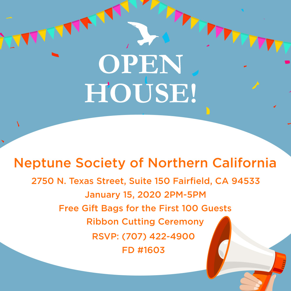 Neptune Society of Northern California Fairfield, CA Open House Announcement